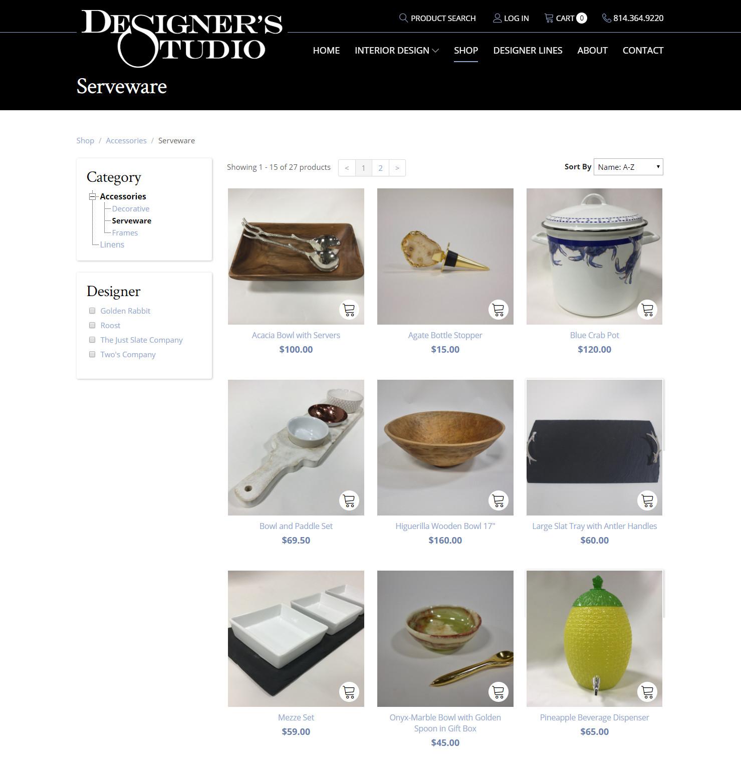 Designer's Studio online store