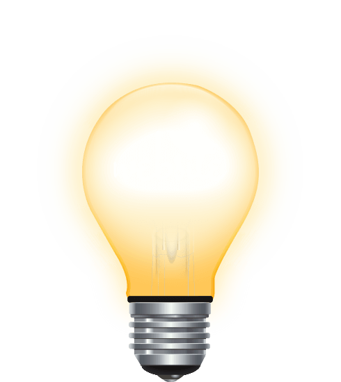Image of a light-bulb turned on